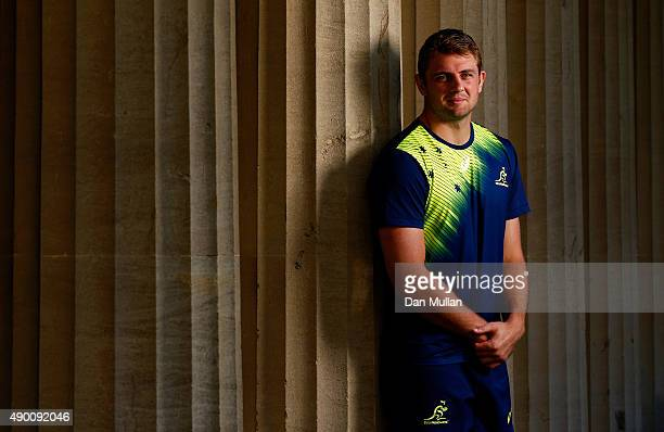 Dean Mumm of Australia poses for a portrait following the Australia Captain's Run ahead of the 2015 Rugby World Cup Pool A match against Uruguay at...