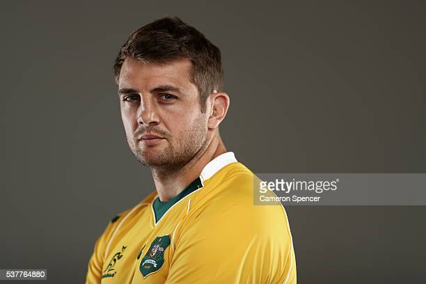 Dean Mumm of the Wallabies poses during an Australian Wallabies portrait session on May 30 2016 in Sunshine Coast Australia