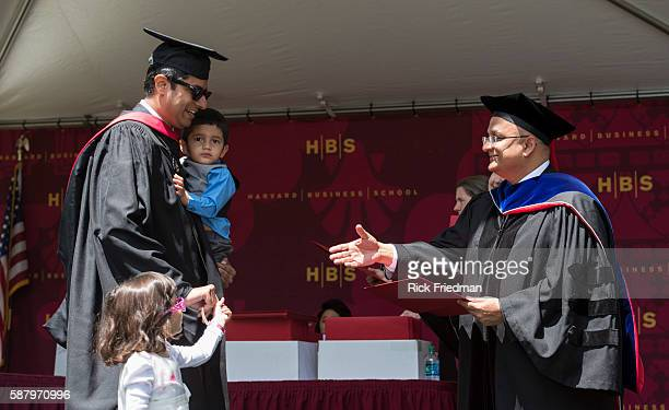 Dean Nitin Nohria of the Harvard Business School during Commencement Ceremonies in Boston MA on May 29 2014