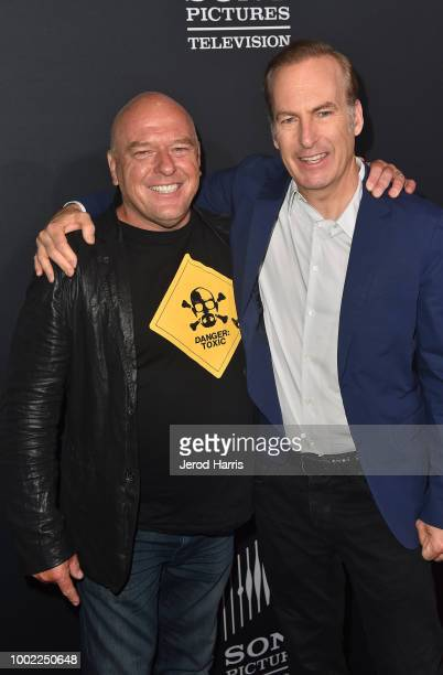 Dean Norris and Bob Odenkirk attend AMC's 'Better Call Saul' Premiere during Comic Con 2018 at UA Horton Plaza on July 19 2018 in San Diego California