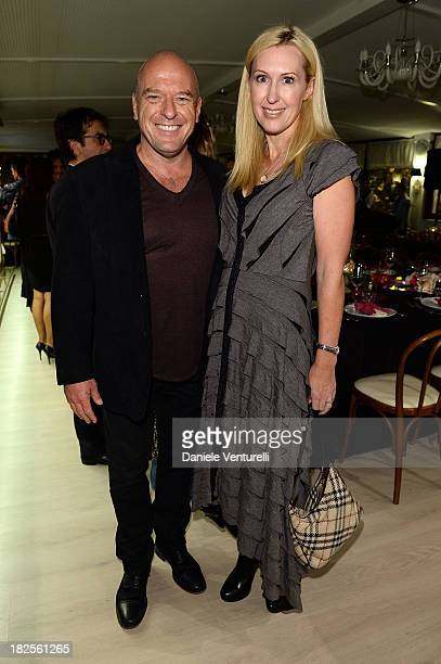Dean Norris and Bridget Norris attend the Tiziana Rocca Comunication for Roma Fiction Fest 2013 Dinner Party on September 30 2013 in Rome Italy