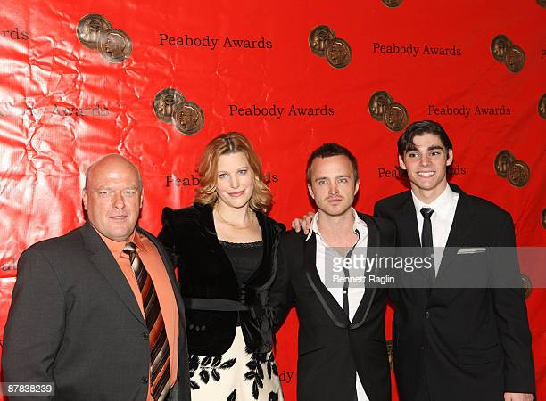 Dean Norris Anna Gunn Aaron Paul and RJ Mitte attend the 68th annual George Foster Peabody awards at The Waldorf=Astoria on May 18 2009 in New York...
