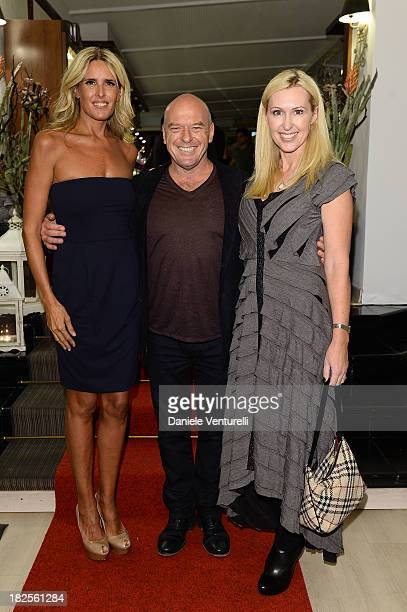 Dean Norris Tiziana Rocca and Bridget Norris attend the Tiziana Rocca Comunication for Roma Fiction Fest 2013 Dinner Party on September 30 2013 in...