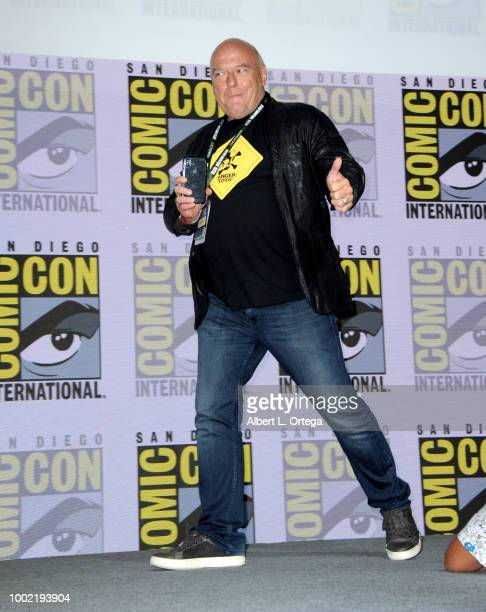 Dean Norris walks onstage during the 'Breaking Bad' 10th Anniversary Celebration during ComicCon International 2018 at San Diego Convention Center on...