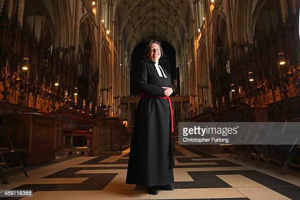 Dean of York The Very Reverend Vivienne Faull poses for a portrait inside York Minster on May 29 2014 in York England Rev Faull/Rev Osborne is one of...