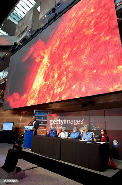 Dean Pesnell SDO project scientist Goddard Space Flight Center in Greenbelt MD speaks during a briefing to discuss recent images from NASA's Solar...