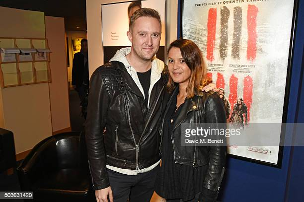 Dean Piper and Lisa Moorish attend a special screening of The Hateful Eight hosted by The Weinstein Company at the Soho Screening Rooms on January 6...