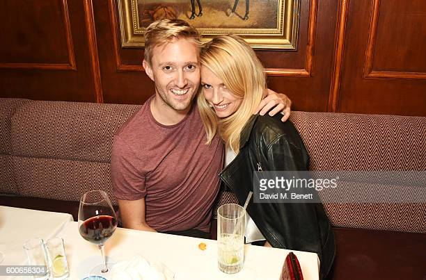 Dean Piper and Sofia Wellesley attend a private dinner to celebrate the Lady Garden x Topshop collection launch in support of the Gynaecological...