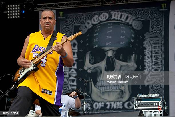 Dean Pleasants of Infectious Grooves performing on stage at Hellfest Festival on June 18 2010 in Clisson France