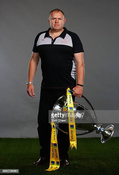 Dean Richards Director of Rugby at Newcastle Falcons poses for a portrait during the Aviva Premiership Rugby 20162017 Season Launch at Twickenham...