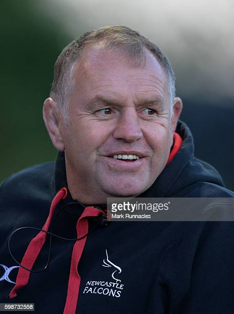 Dean Richards Director of Rugby Newcastle Falcons looks on during the Aviva Premiership match between Newcastle Falcons and Sale Sharks at Kingston...