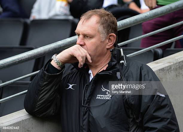 Dean Richards Director of Rugby of Newcastle Falcons during the Aviva Premiership match between Northampton Saints and Newcastle Falcons at StadiumMK...