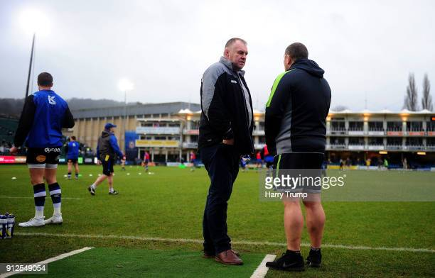 Dean Richards Director of Rugby of Newcastle Falcons during the AngloWelsh Cup match between Bath and Newcastle Falcons at the Recreation Ground on...