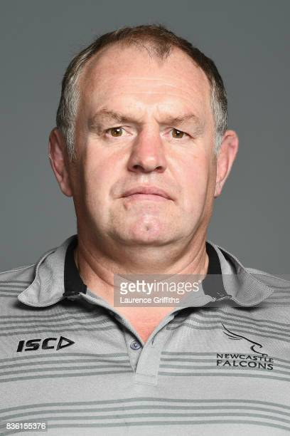 Dean Richards Director of Rugby of the Newcastle Falcons poses for a portrait during the Newcastle Falcons photocall at Kingston Park on August 17...