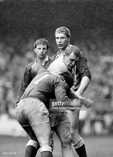 Dean Richards of England fighting with Mike Griffiths of Wales during the Five Nations Championship rugby union match between Wales and England at...