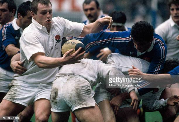 Dean Richards of England in action during a Rugby Union Five Nations Championship match against France at the Parc des Princes in Paris on 16th...