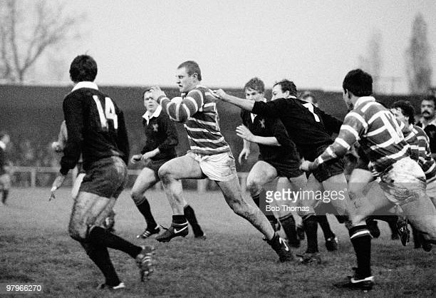 Dean Richards of Leicester running with the ball during the Wasps v Leicester Rugby Union match played at Repton Avenue in Sudbury on the 17th...