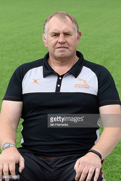 Dean Richards poses for a portrait during the Newcastle Falcons squad photocall for the 20162017 Aviva Premiership Rugby season on August 17 2016 in...
