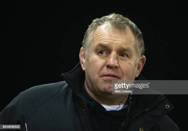 Dean Richards the director of rugby at Newcastle Falcons looks on prior to the Aviva Premiership match between Sale Sharks and Newcastle Falcons at...