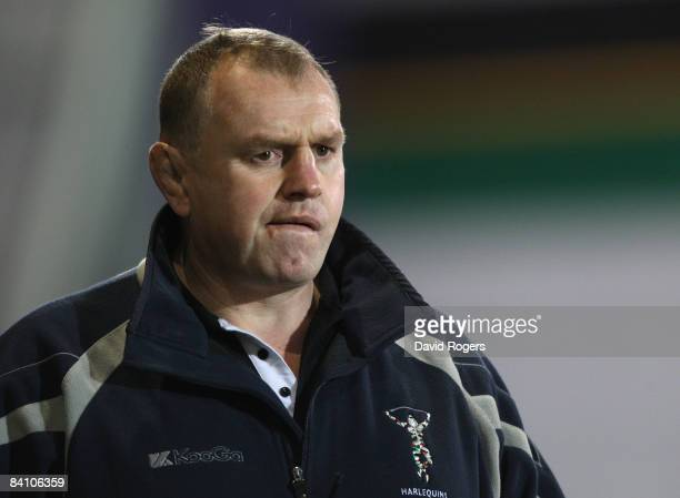 Dean Richards, the Harlequins Director of Rugby pictured during the Guinness Premiership match between Northampton Saints and Harlequins at...