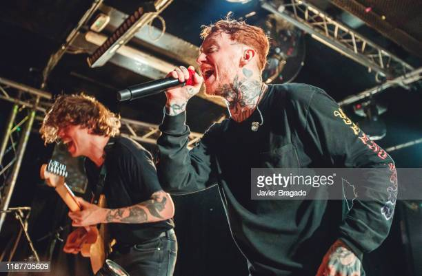 Dean Richardson and Frank Carter from the band 'Frank Carter and The Rattlesnakes' performs on stage at Sala Mon on November 14 2019 in Madrid Spain