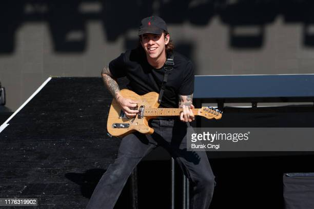 Dean Richardson of Frank Carter and the Rattlesnakes performs live on the Main Stage during day three of Reading Festival 2019 at Richfield Avenue on...