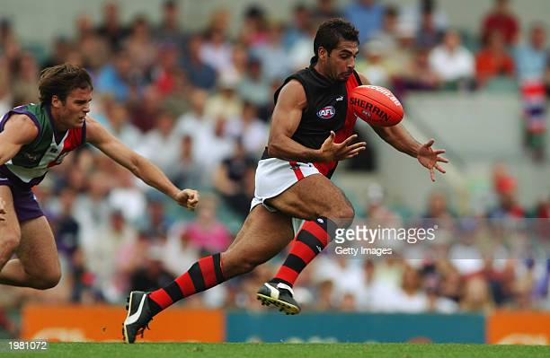 Dean Rioli for the Bombers in action during the round six AFL match between the Fremantle Dockers and Essendon Bombers May 4 , 2003 at the Subiaco...