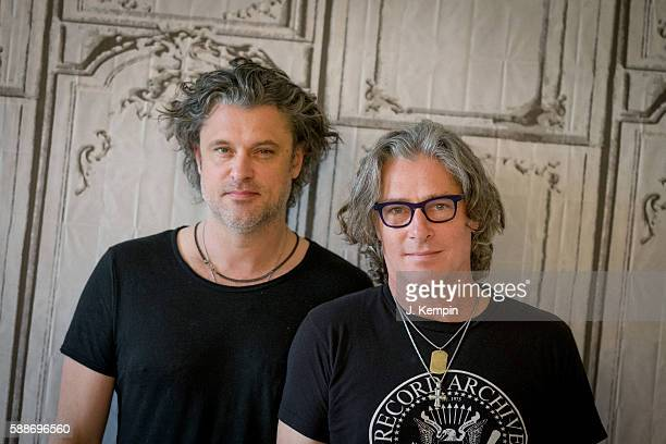 Dean Roland and Ed Roland of the band Collective Soul discuss their new album See What You Started By Continuing at AOL HQ on August 12 2016 in New...