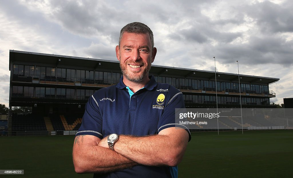 Dean Ryan, Director of Rugby of Worcester Warriors poses for a portrait at the photocall held at Sixways Stadium on September 23, 2015 in Worcester, England.