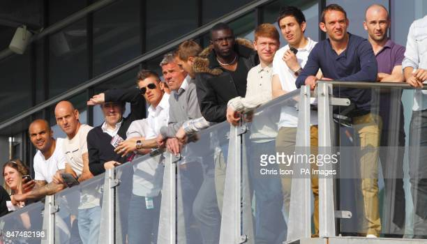 Dean Saunders and his Doncaster Rovers side watch as Try Catch Me ridden by Mark Quinlan wins the Platinum and Lace Gentlemen's Club Handicap Steeple...
