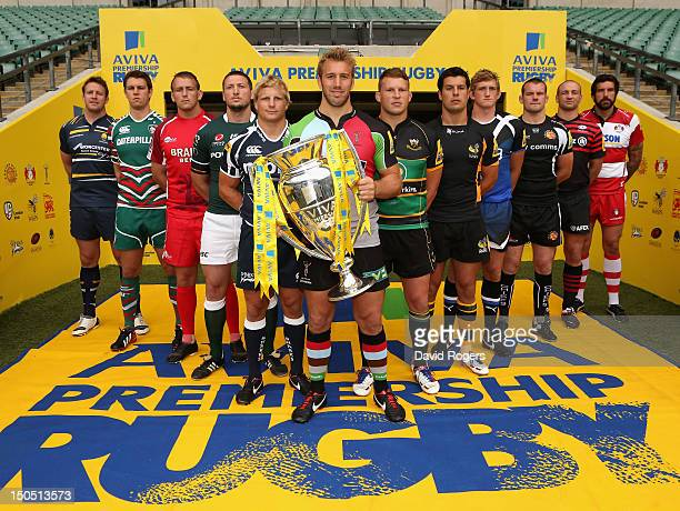 Dean Schofield of Worcester Warriors Louis Deacon of Leicester Tigers Jonathan Mills of London Welsh Declan Danaher of London Irish David Seymour of...