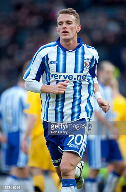 Dean Shiels of Kilmarnock during the Scottish Communities Cup Semi Final match between Ayr United and Kilmarnock at Hampden Park on January 28 2012...