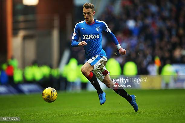 Dean Shiels of Rangers controls the ball during the Scottish Championships match between Rangers and St Mirren at Ibrox Stadium on February 27 2016...