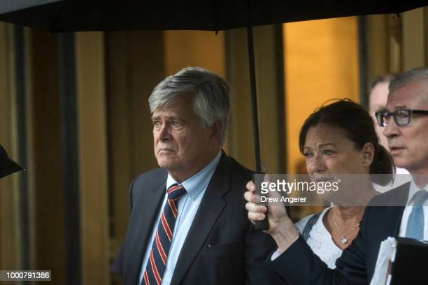 Dean Skelos a former Republican politician and the former Majority Leader of the New York State Senate exits federal court July 17 2018 in New York...