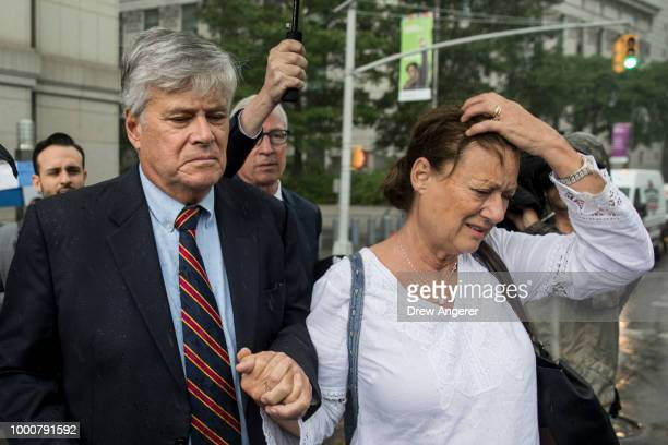 Dean Skelos a former Republican politician and the former Majority Leader of the New York State Senate and his wife Gail exit federal court July 17...