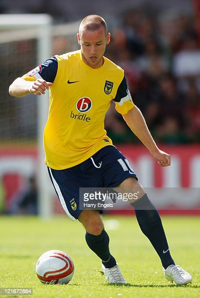 Dean Smalley of Oxford United in action during the npower League Two match between Swindon Town FC and Oxford United at the County Ground on August...