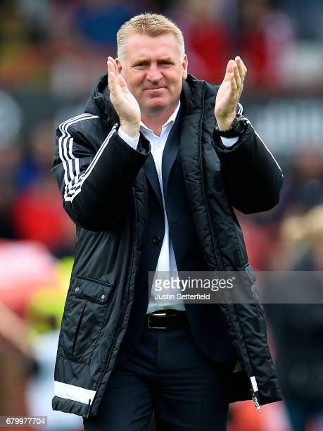 Dean Smith manager of Brentford ahead of the Sky Bet Championship match between Brentford and Blackburn Rovers at Griffin Park on May 7 2017 in...