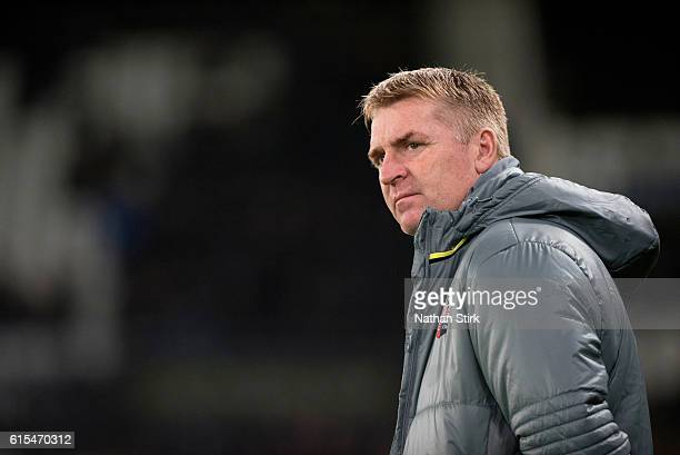 Dean Smith manager of Brentford during the Sky Bet Championship match between Derby County and Brentford at iPro Stadium on October 18 2016 in Derby...