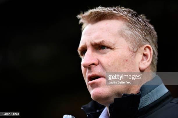 Dean Smith Manager of Brentford FC ahead of the Sky Bet Championship match between Brentford and Rotherham at Griffin Park on February 25 2017 in...