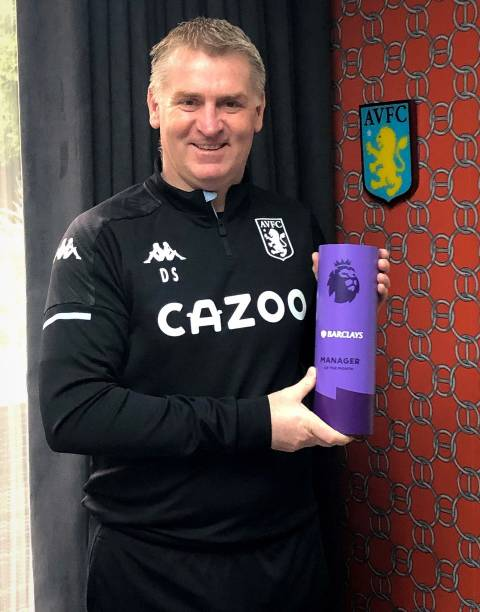 GBR: Dean Smith of Aston Villa is Announced as Premier League Manager of the Month for December 2020