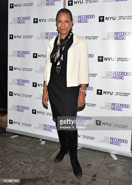 Dean Tisch School of the Arts Mary Schmidt Campbell attends Clive Davis Institute Of Recorded Music 10th Anniversary Party at Gallow Green at the...