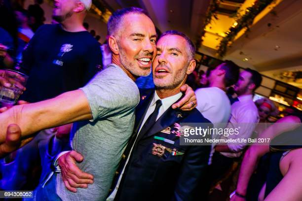 Dean und Dan Caten attend the Life Ball 2017 welcome cocktail at Le Meridien Hotel on June 9 2017 in Vienna Austria The Life Ball an annual charity...