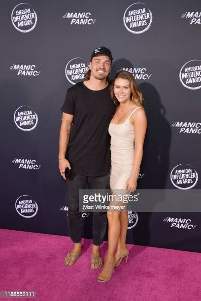 Dean Unglert and Caelynn Miller-Keyes attend the 2nd Annual American Influencer Awards at Dolby Theatre on November 18, 2019 in Hollywood, California.