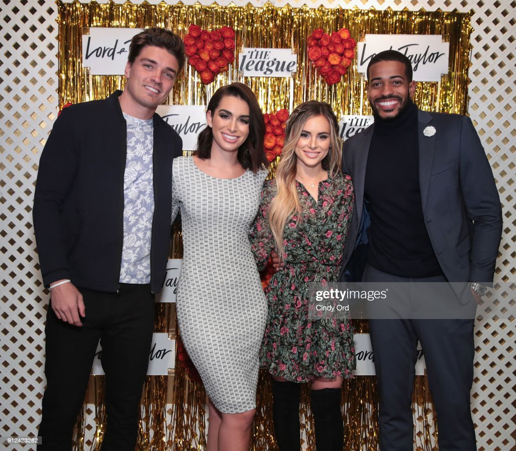 Dean Unglert Ashley Iaconetti Amanda Stanton And Eric Bigger Attend Lord  Taylor And The League Valentineu0027s