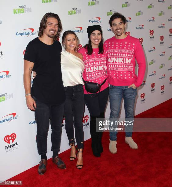 Dean Unglert Caelynn MillerKeyes Ashley Iaconetti and Jared Haibon attend KIIS FM's Jingle Ball 2019 presented by Capital One at The Forum on...