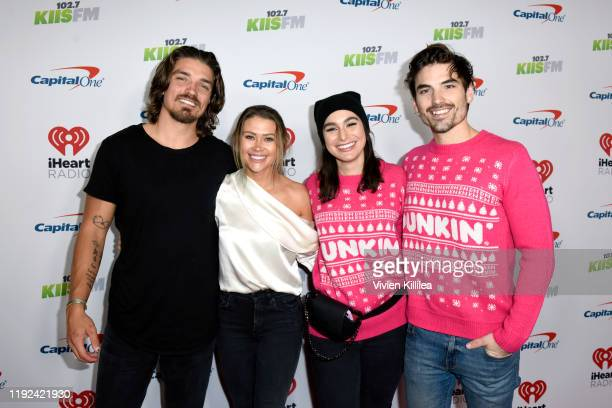 Dean Unglert Caelynn MillerKeyes Ashley Iaconetti Haibon and Jared Haibon attend 1027 KIIS FM's Jingle Ball 2019 Presented by Capital One at the...