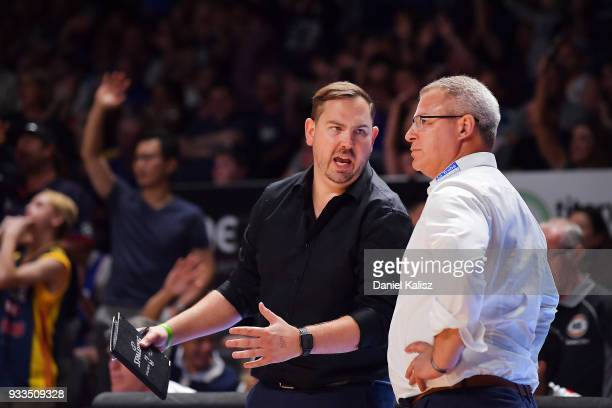 Dean Vickerman head coach of Melbourne United looks on during game two of the NBL Grand Final series between the Adelaide 36ers and Melbourne United...