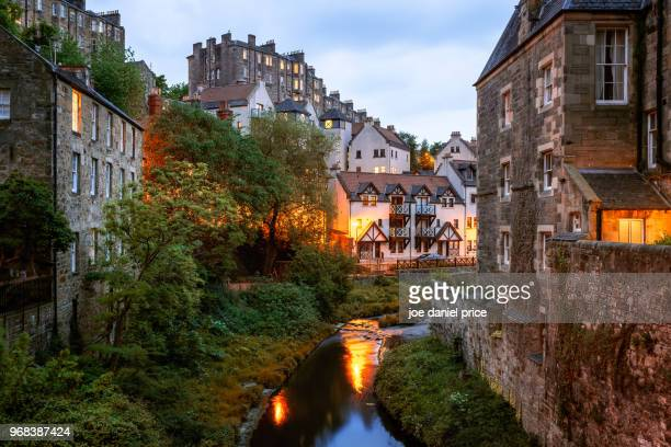 dean village, edinburgh, scotland - schottland stock-fotos und bilder