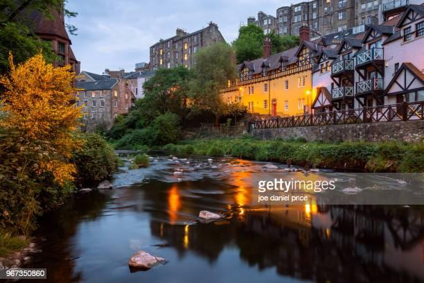 dean village, water of leith, edinburgh, scotland - エディンバラ ストックフォトと画像