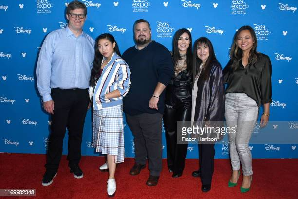 Dean Wellins Awkwafina Paul Briggs Cassie Steele Osnat Shurer and Adele Lim attend Go Behind The Scenes with Walt Disney Studios during D23 Expo 2019...